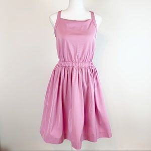 J Crew NWT Girls' bow-back dress in stretch faille